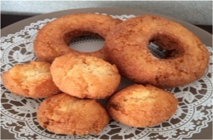 Fried donut with tofu and rice flour